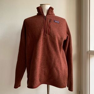 Rust colored Patagonia pullover